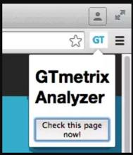 GTmetrix按钮
