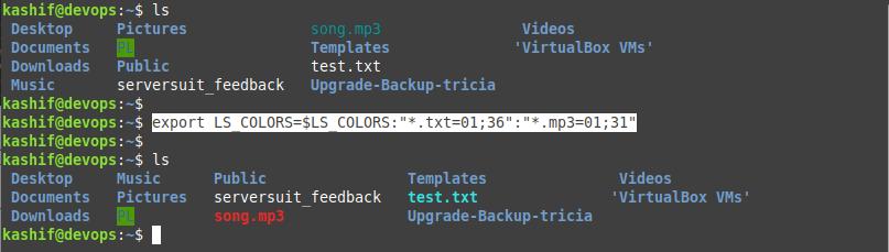 change ls color